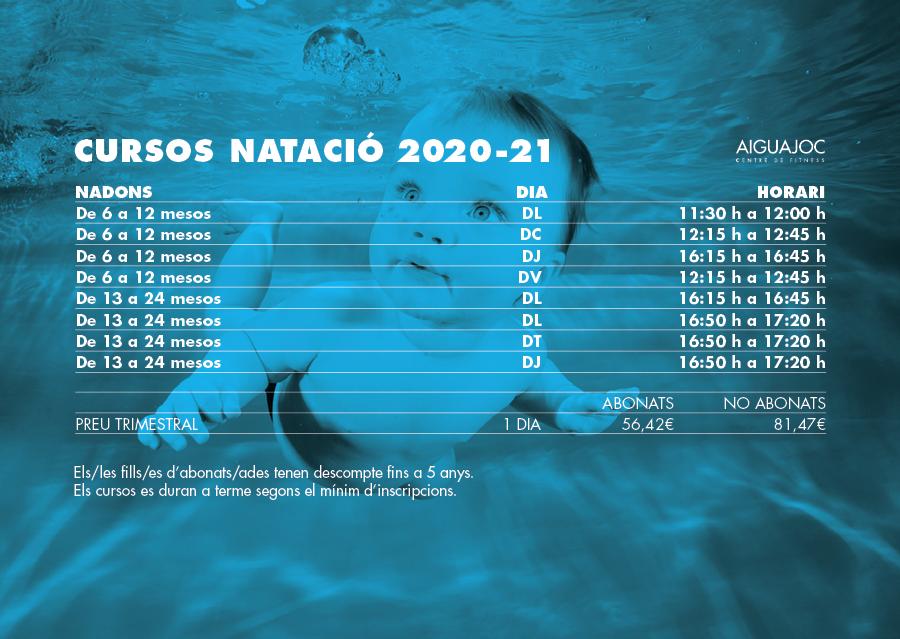 cursos natació nadons