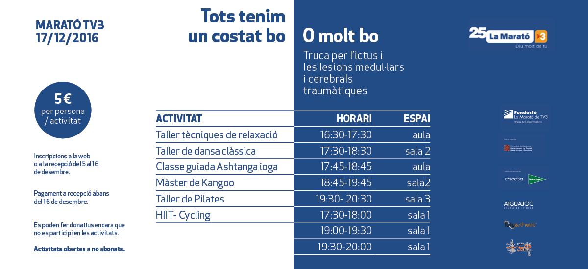 Agenda de actividades marató TV3